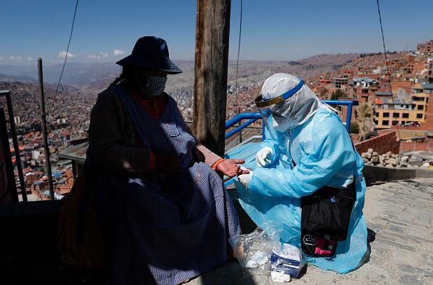Testy na obecność koronawirusa, La Paz, Boliwia, 28.08.2020