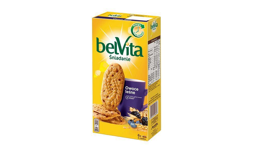 Przepisy na letnie śniadanie z belVitą - ciastka bilVita owoce leśne