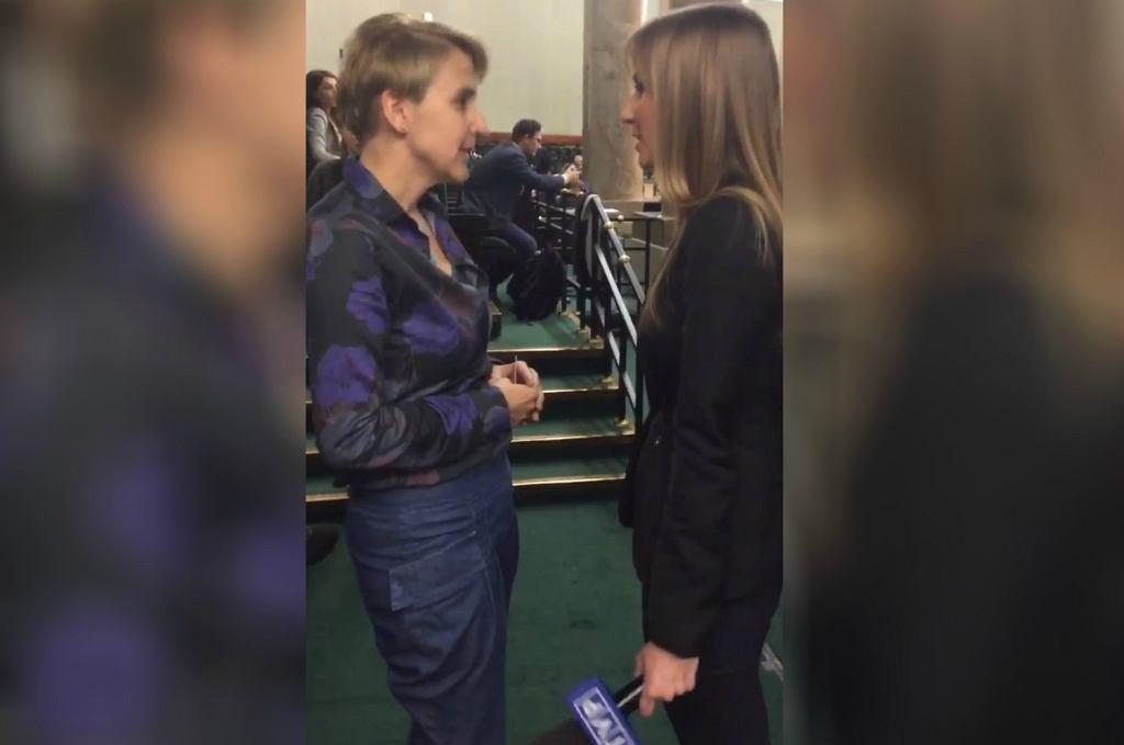 Posłanka Joanna Scheuring-Wielgus nagrała rozmowę z dziennikarką 'Wiadomości'