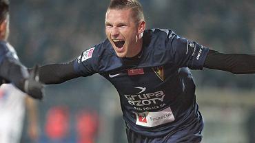 Marcin Robak strzeli wszystkie bramki dla Pogoni w meczu z Lechem zakończonym wynikiem 5:1