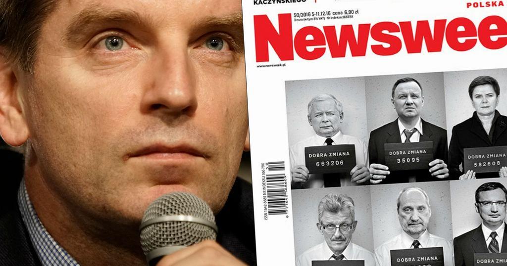 Tomasz Lis, okładka 'Newsweeka' z 5 grudnia 2016