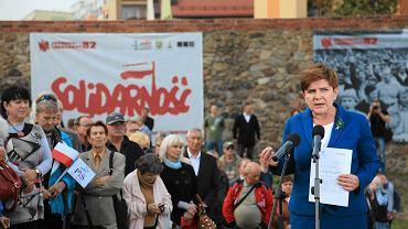 Beata Szydło z wizytą w Lubinie 6 października 2015 roku. Obiecywała wówczas likwidację podatku od kopalin
