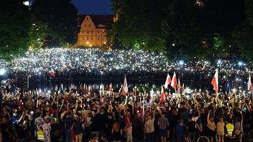 Poznań - protest w Parku Mickiewicza