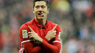 Robert Lewandowski w meczu FC Bayern Munich-VfL Wolfsburg