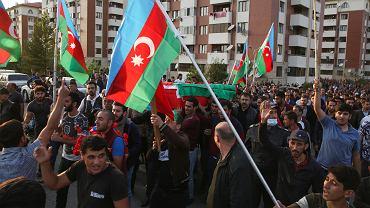 30.09.2020, pogrzeb jednego z azerskich żołnierzy, który zginął w czasie walk o Górny Karabach.