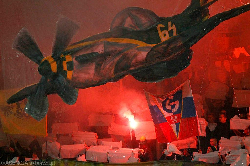 Kibice podczas meczu Katowice-Tychy