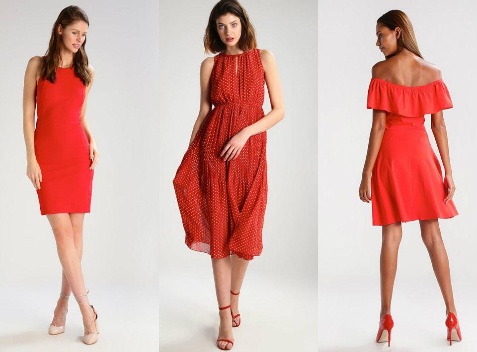 Kolaż Avanti24 / fot. zalando.com / czerwone sukienki