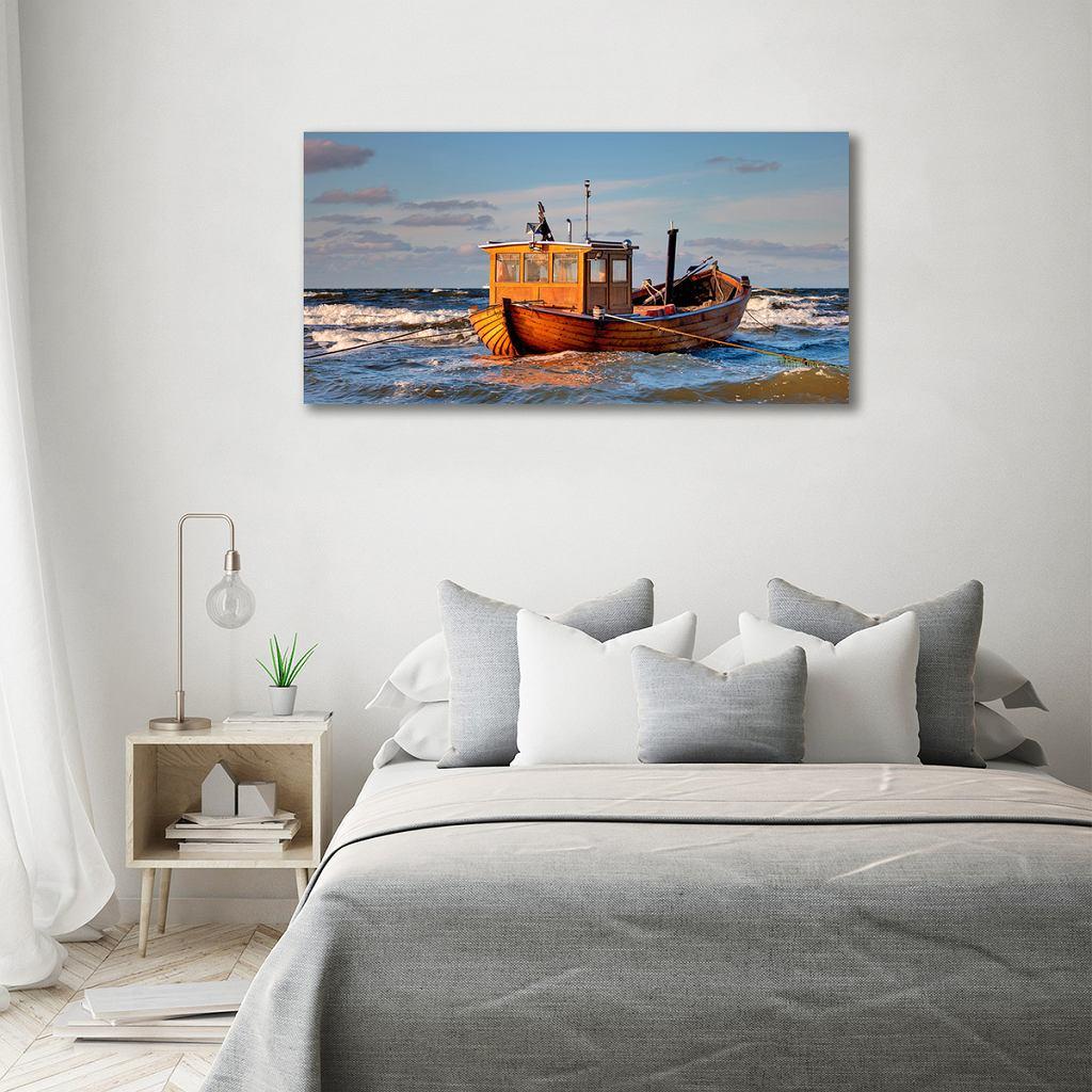 Obraz zdjęcie szkło akryl Kuter rybacki