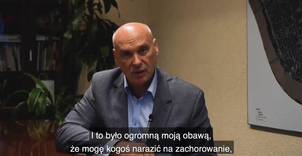Tomasz Kucharski, burmistrz Pragi-Południe, przeszedł koronawirusa