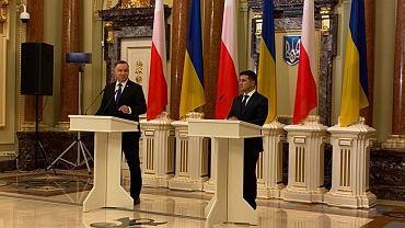 Prezydenci Ukrainy i Polski Wołodymyr Zełenski i Andrzej Duda