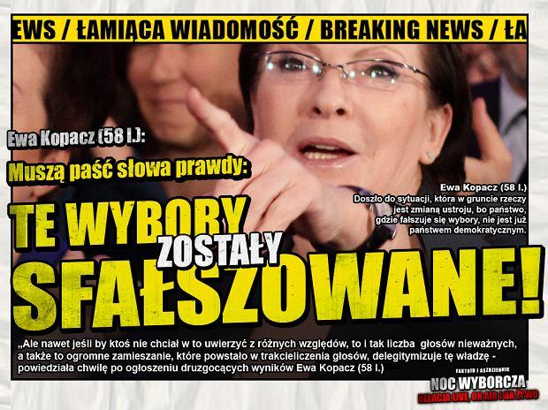 Kopacz: Wybory sfałszowane [Faktoid] - Mamy już komentarz Ewy Kopacz (58 l.)! - Faktoid