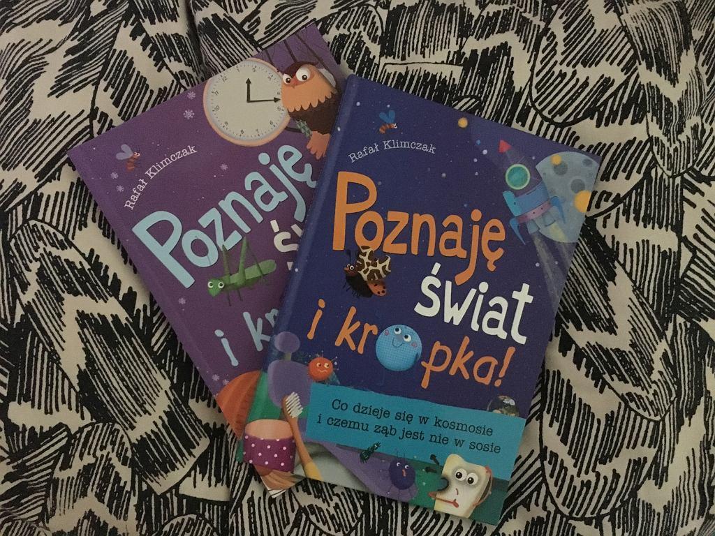 Dzięki książkom z serii 'Poznaję świat i kropka' dowiemy się wiele o otaczającym nas świecie.