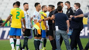 Mecz Brazylia - Argentyna na stadionie w Sao Paulo w Brazylii, 5.09.2021