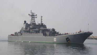 Statek rosyjskiej Marynarki Wojennej w Kaliningradzie