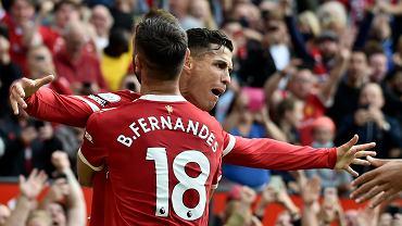 Cristiano Ronaldo i Bruno Fernandes w meczu Manchester United - Newcastle