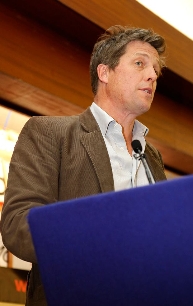 Hugh Grant, Rally hosted by the Hacked Off campaing and the Coordinating Committee for Media Refom (CCMR), To make sure politicians and the media are reminded of the public support for reform in the wake of the Leveson Inquiry.Central Hall, Westminster, London. 17/05/2012