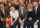 Pokaz nowej kolekcji Victorii Beckham. W pierwszym rzędzie mąż i dzieci projektantki