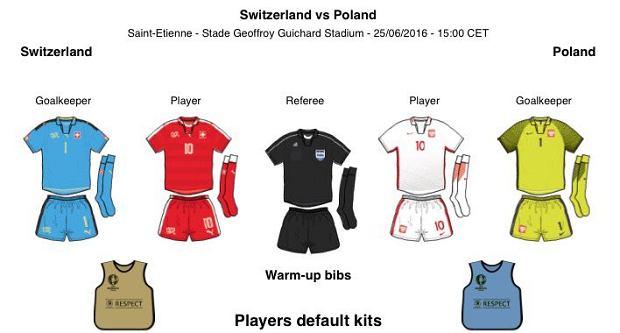 Euro 2016. Szwajcaria - Polska. Wiemy, w jakich strojach zagrają Polacy
