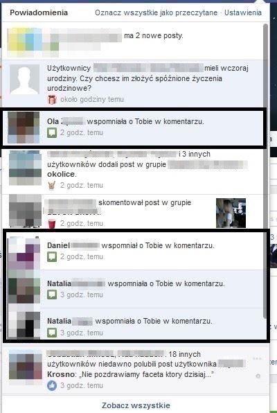 Fałszywe powiadomienie z Facebooka