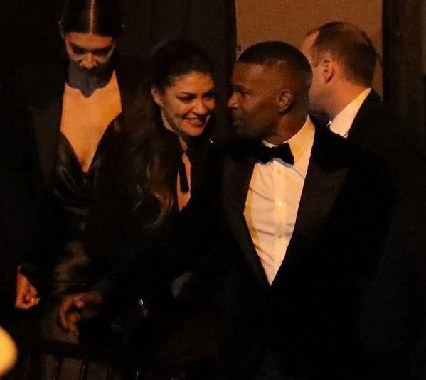 Jamie Foxx i Jessica Szohr na afterparty po Oscarach