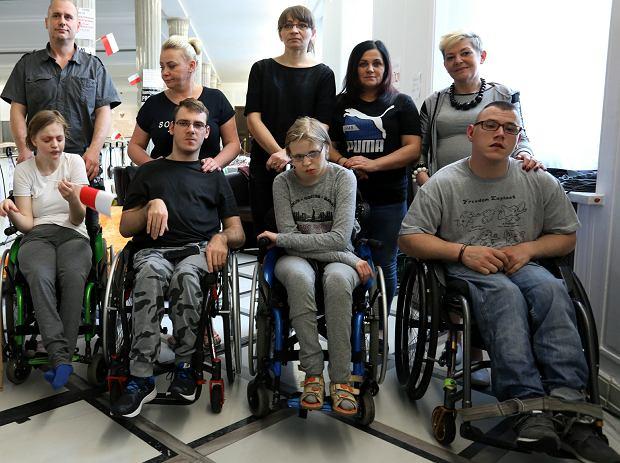 Protest niepełnosprawnych w Sejmie, maj 2018