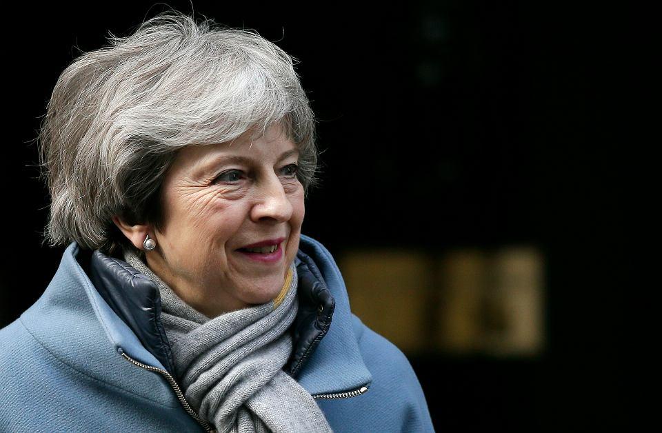 Brytyjska premier Theresa May na Downing Street 10. Londyn, 14 marca 2019 r.