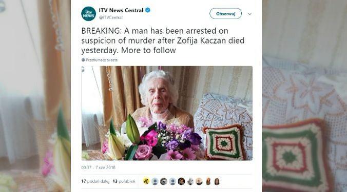 100-letnia Polka została brutalnie zaatakowana w Wielkiej Brytanii