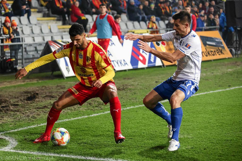 Elia Soriano podczas meczu Korona Kielce - Lech Poznań