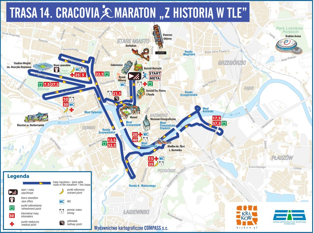Trasa 14. Cracovia Maraton