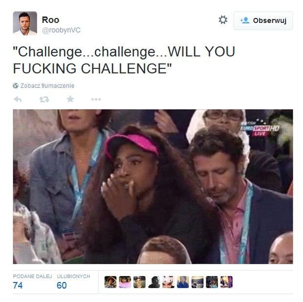 Serena Williams uważa, że siostra powinna wziąć challenge