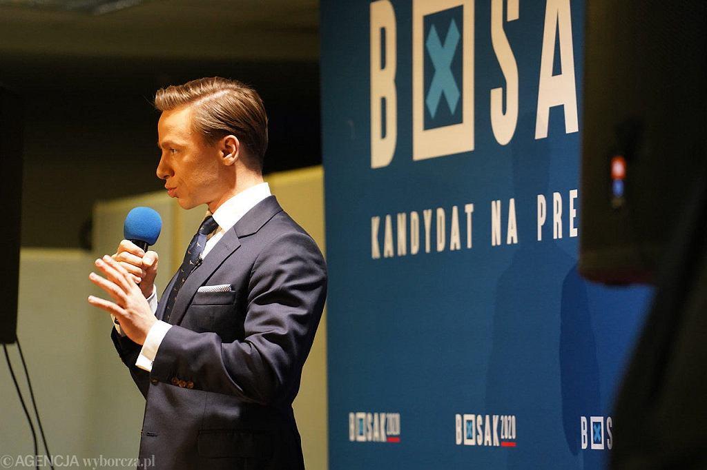 Wybory prezydenckie 2020. Kandydat Krzysztof Bosak na spotkaniu w Płocku