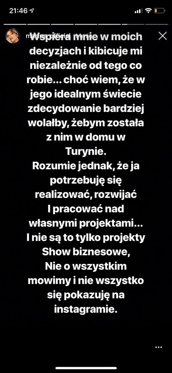 Marina Łuczenko-Szczęsna na Instagramie