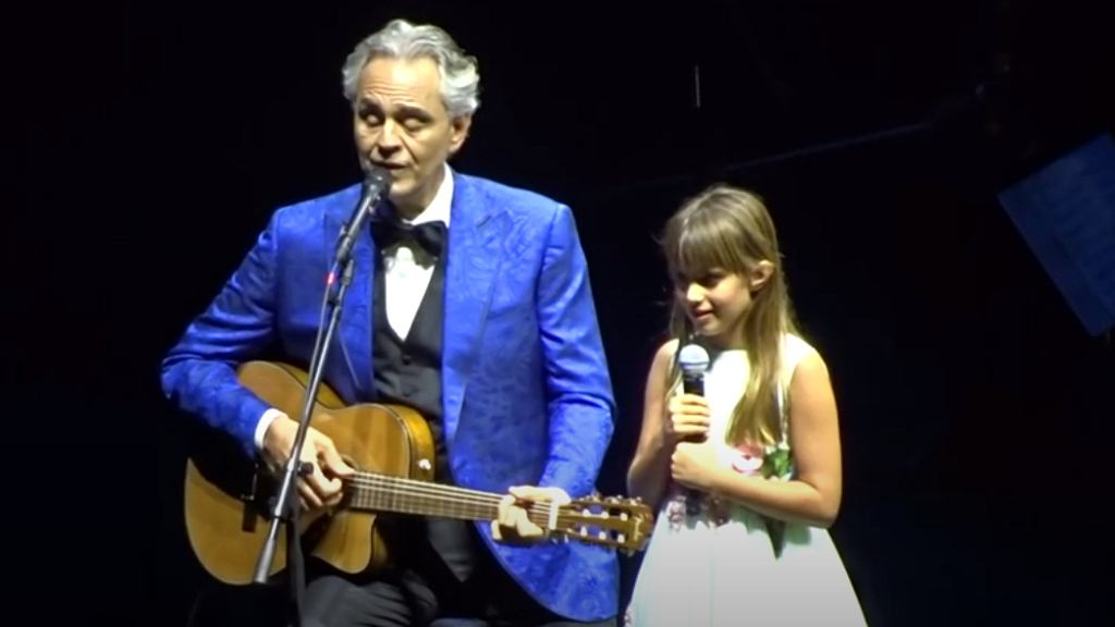 Andrea Bocelli z córką Virginią