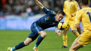 Mathieu Debuchy w meczu z Ukrainą