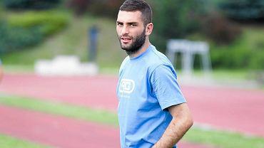 Stomil podczas treningu na stadionie w Kortowie. Ukrainiec Irakli Meskhia