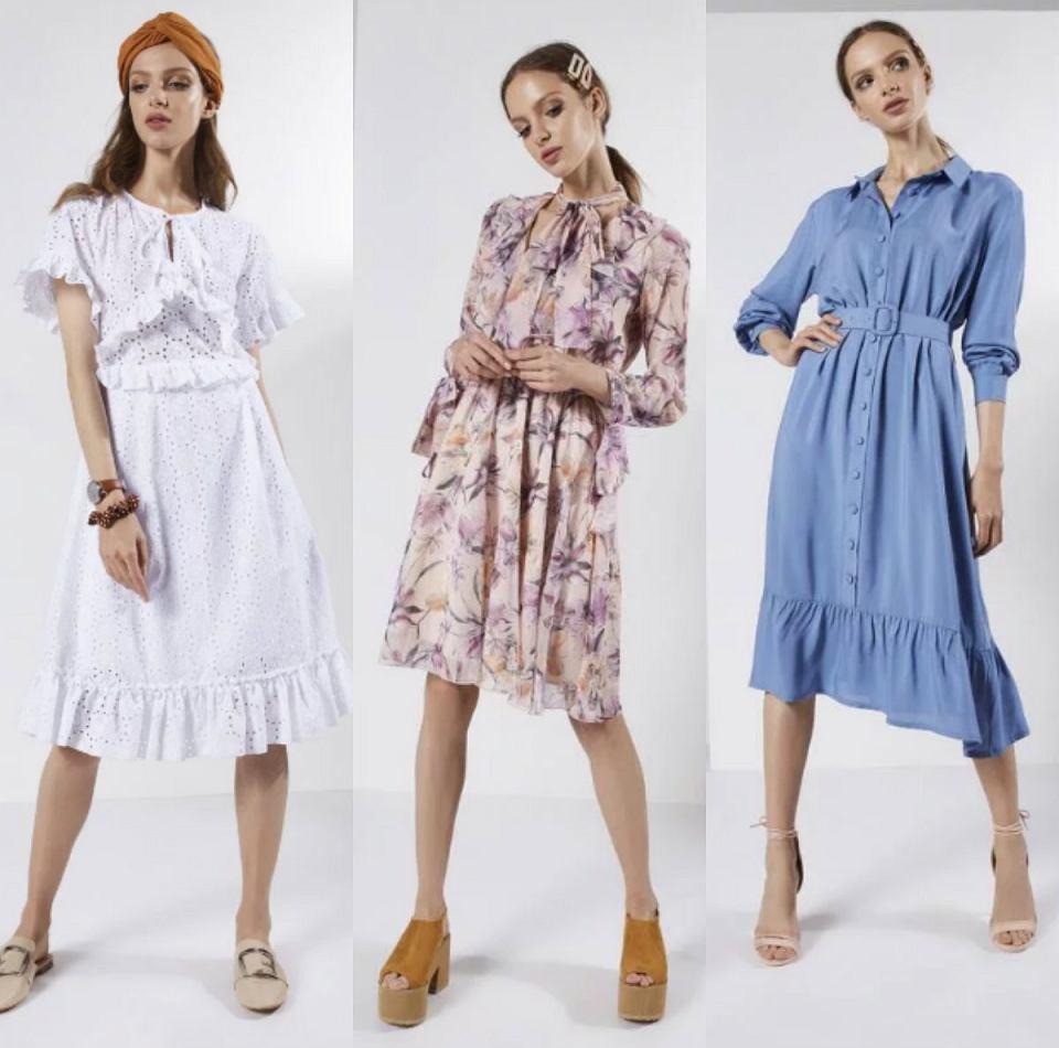 sukienki z najnowszej kolekcji Born2be zrealizowanej we współpracy z Avanti