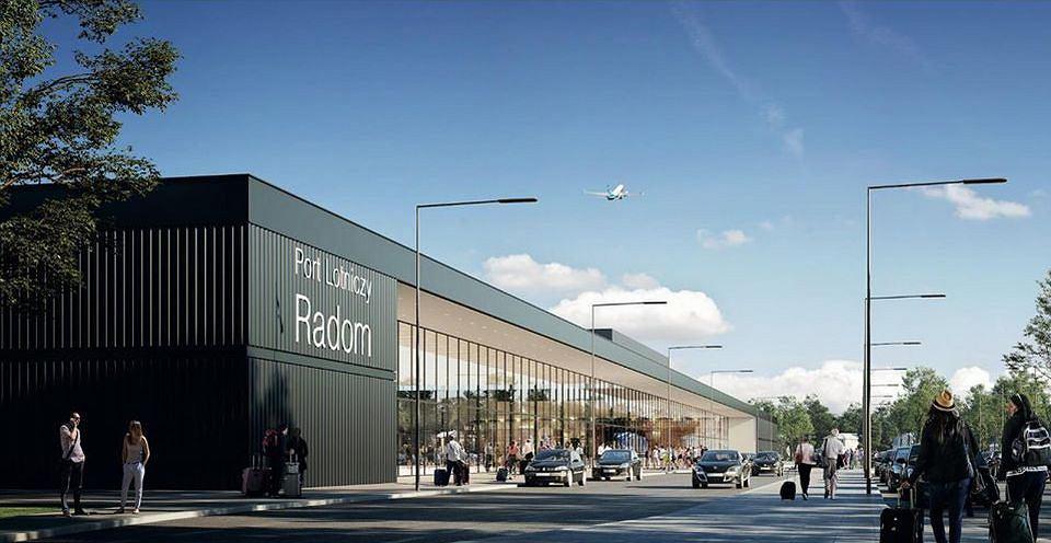Wizualizacje lotniska w Radomiu