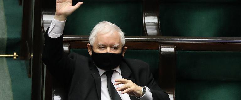 Jarosław Kaczyński jedynym posłem PiS, który głosował za poprawką opozycji