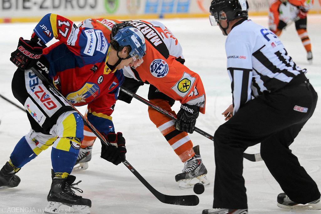 Pierwszy mecz play off JKH GKS Jastrzębie - Podhale Nowy Targ