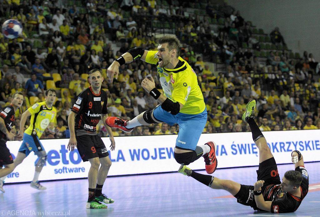 Julen Aginagalde podczas meczu Vive Tauron Kielce - Piotrkowianin