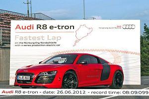 Audi R8 e-tron - Elektryczny rekordzista