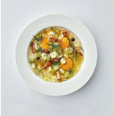 Wielkopolska zupa  - parzybroda - zmłodą kapustą