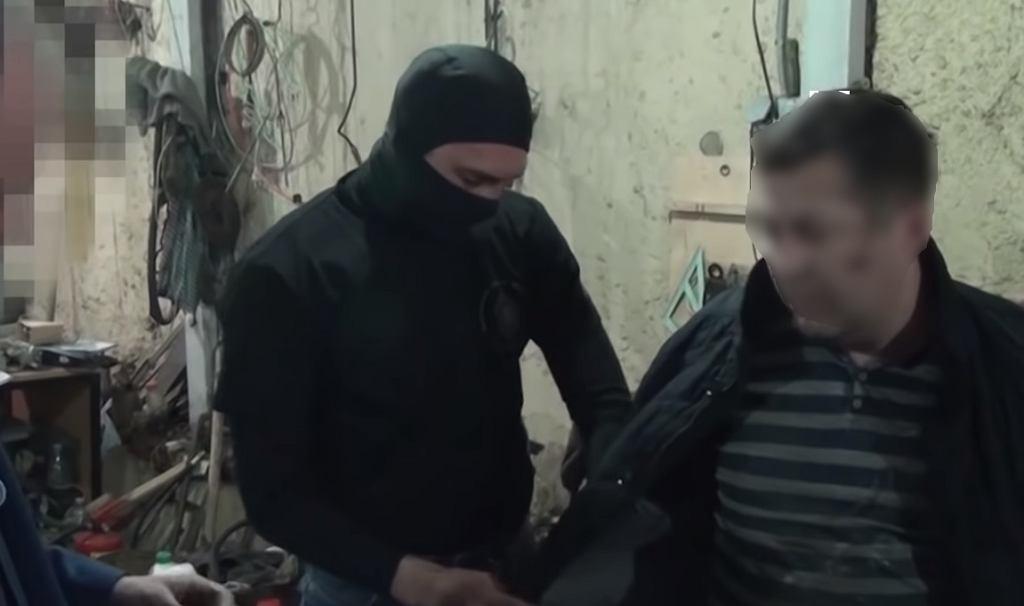 Nagranie z zatrzymania Polaka Mariana R. przez rosyjskie FSB.