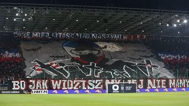Oprawa na meczu Wisła Kraków - Cracovia, 12.08.2017 r. (Fot. Jakub Porzycki / AG)