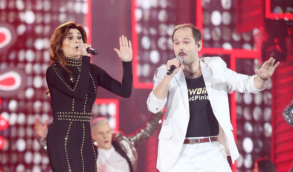 Sławomir podczas koncertu sylwestrowego Telewizji Polskiej w Zakopanem.