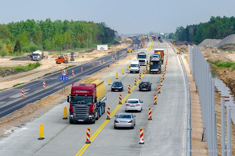 Ostatni odcinek 'Gierkówki' zmienia się w autostradę A1