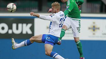 Mecz Irlandia Północna - Finlandia 2:1. Paulus Arajuuri z Lecha Poznań