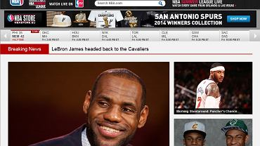Screen ze strony NBA.com