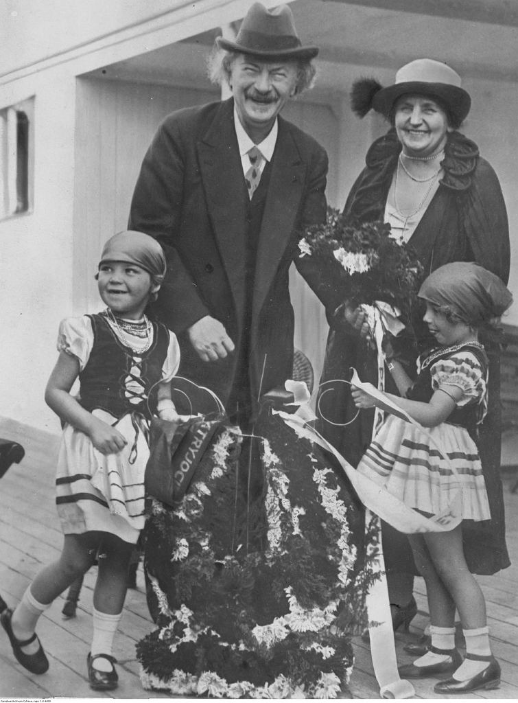 Ignacy Paderewski z żoną
