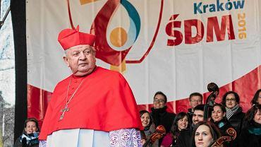 06.01.2015 Kraków . Kardynał Stanisław Dziwisz podczas Orszaku Trzech Króli
